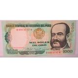 Peru 1981, Billete De 1000 Soles De Oro