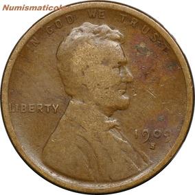 Lincoln Penny 1 Cent 1909 S Fecha Rara Y Primer Emision Usa
