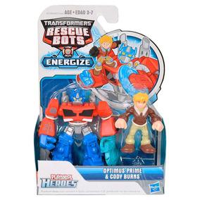 Transformers Rescue Bots Articulado + Figura Hasbro