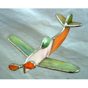 Avion Colgante Adorno Movil Vitraux Tiffany