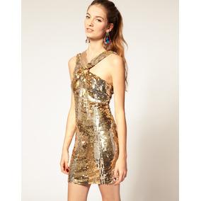 Vestido Paetê Dourado Para Festas E Ocasiões Especiais!