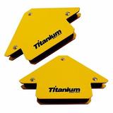 Kit Par Esquadro Magnetico 12kg Para Solda Titanium