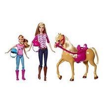 Juguete Barbie Pinktastic Hermanas Clases De Equitación