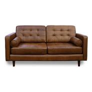 Love Seat De Piel Genuina 100% Noruega Confortopiel Ms