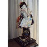 Geisha Hermosa Figura De Decoración