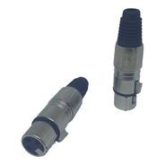 Conector Ou Plug Canon / Xlr Fêmea Csr Metal Com 20 Unidades