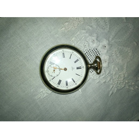 Impecável Relógio Algibeira Omega Prata Suíço