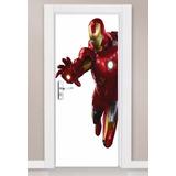 Adesivo Parede Porta Iron Man Homem De Ferro Vingadores Novo