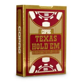 e655768146 Baralho Copag Poker Texas Holdem Borgonha Plástico 55 Ct por Azula Esportes