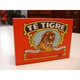 Retro Antigua Caja Cartón Sin Abrir Te Tigre Década 70