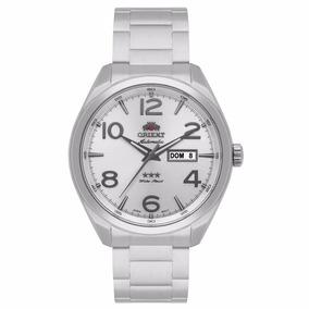 Relógio Orient Prata Automático Mostrador Prateado+frete