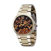 Relógio Feminino Euro Phyton Eu2036lxy/4m Champagne Original