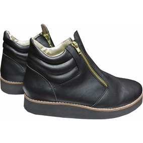 Botas Botinetas Zapatos Borcegos Dama Mujer Base Liviana