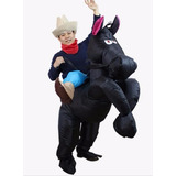 Fantasia Roupa Cavalo Preto Inflavel Para Adultos Carnaval