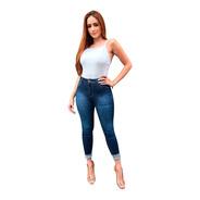 Kit 3 Calças Jeans Feminina Cintura Alta  Com Lycra Ducam