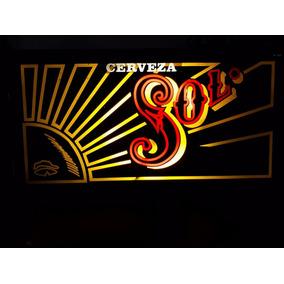 Anuncio Luminoso Cerveza Sol Bar Vintage
