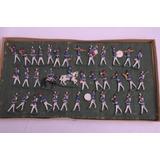 36 Soldados De Plomo De Chile Juguete Antiguo
