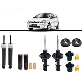 4 Amortecedor Kit Batente Corsa Hatch / Sedan 2003 Em Diante