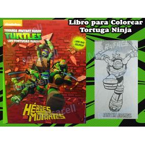 10 Libro Colorear Tortugas Ninja Recuerdos Fiesta :)