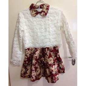 Lindissimo Vestido Importado Inverno Bordado