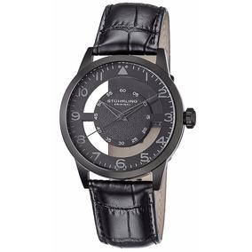 Reloj Stuhrling Original Modelo 650.04 Piel Negro Transparen