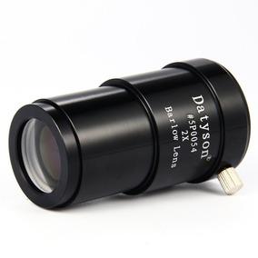 Lente Barlow 2x Apocromática Metal 1,25 Ocular Telescópio