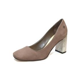 Zapato De Cuero Con Taco De Diseño, Mujer - 4010337