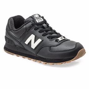 new balance 574 piel negras