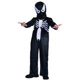 Disfraz Hombre Araña/spiderman Negro Venom Original New Toys