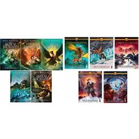 Coleção Percy Jackson E Os Olimpianos + Kit Heróis Do Olimpo