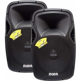 Combo Bafle Moon Stone Activo Y Pasivo 15 600w Bluetooth