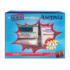 Asepxia Kit S.o.s Antigranitos Jabón + Crema + Gel