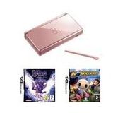 Nintendo Ds Lite Rosa Metálico Valor Paquete Con 2 Juegos
