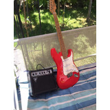 Pack Guitarra Eléctrica + Amplificador Freeman Roja