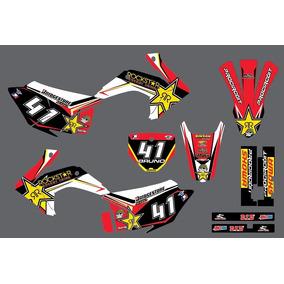 Kit Graficos Para Crf 230 Todos, Rockstar (frete Grátis)