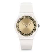 Reloj Swatch Blanco Con Cristales Swarovski Suow168