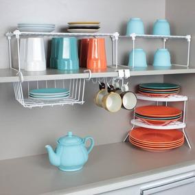 Combo Cozinha - Kit Organizadores Para Cozinha - Branco