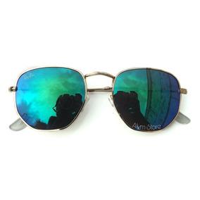 Oculos Masculino Verde Espelhado - Óculos De Sol no Mercado Livre Brasil 3bbe4ddb78