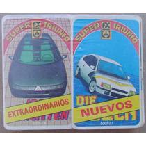 Naipes Super Triunfo Pack 2 Mazos Autos Match 4 Años 80´s #1