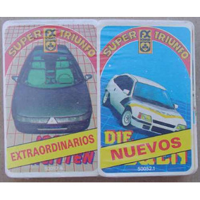 Naipes Super Triunfo Pack 2 Mazos Autos Match 4 Años 80´s #1