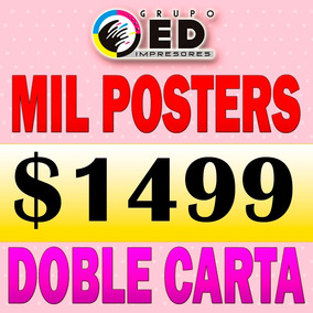 Posters Doble Carta Publicidad Couche Color Impresion Offset