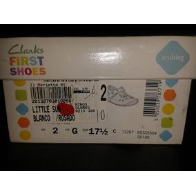 Zapatos Clarks First Shoes Niña En Muy Buen Estado 17 1/2