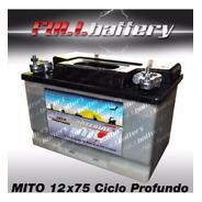Bateria Mito Ciclo Profundo 12x75 Ideal Nautica Paneles Golf