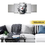 Cuadro Grande Políptico Actriz Marilyn Monroe Películas