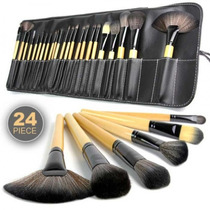 Kit De Pincel Maquiagem Profissional 24 Pcs Com Estojo Comnf