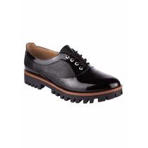 Zapatos Antiderrapante Oxford Charol Mujer Plataforma