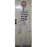 1mt Esqueleto Carton Papel Mache Dia De Muertos Ofrendas