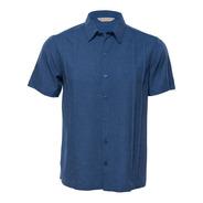 Camisa Guayabera Manga Corta Azul Mod. Adiel - Costavana