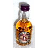 Botellita Vidrio - Whisky Chivas Regal 12 - Cuello Bombé
