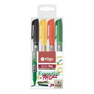 Resaltador Filgo Lighter Fine Pastel Essential X4 Colores